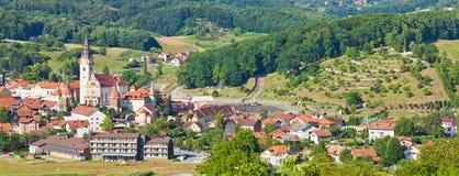 Panorama van Marija Bistrica stock foto's