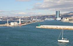 Panorama van Marseille stock foto's