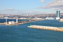 Panorama van Marseille, Frankrijk stock fotografie