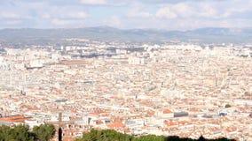 Panorama van Marseille, Frankrijk stock video
