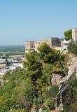 Panorama van Massafra Puglia Italië stock foto's