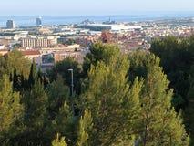Panorama van Mataro-stad royalty-vrije stock afbeelding