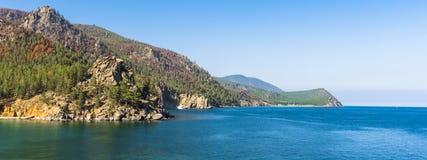 Panorama van meer Baikal Stock Afbeelding