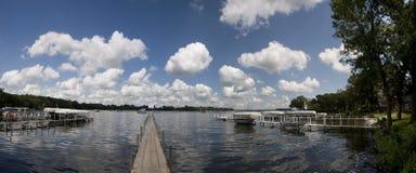 Panorama van Meer Okoboji Stock Foto