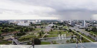 Panorama van Minsk stock afbeeldingen