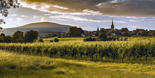 Panorama van Mittelbergheim royalty-vrije stock foto
