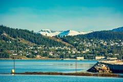 Panorama van Mo i Rana stad Royalty-vrije Stock Afbeeldingen