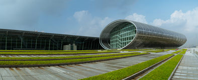 Panorama van moderne architectuur Stock Foto's