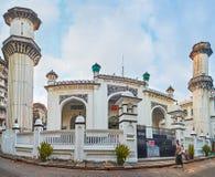 Panorama van Mogol Shiah Mosque, Yangon, Myanmar Royalty-vrije Stock Fotografie