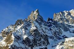 Panorama van Mont Blanc Chain in Valle D ` Aosta Royalty-vrije Stock Afbeelding