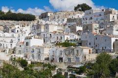 Panorama van Monte Sant ' Angelo. Puglia. Italië. Stock Foto's