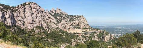 Panorama van Montserrat Monastery Bergen catalonië Spai Stock Foto's