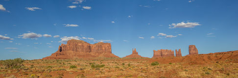 Panorama van Monumentenvallei in Arizona Stock Foto