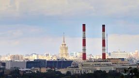 Panorama van Moskou, Stock Foto's