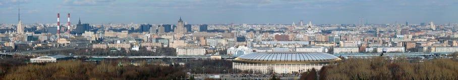 Panorama van Moskou stock afbeeldingen