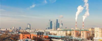 Panorama van Moskou stock afbeelding