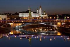 Panorama van Moskou bij dageraad. Rusland Royalty-vrije Stock Fotografie
