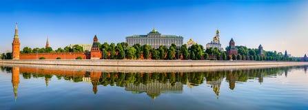 Panorama van Moskou het Kremlin Royalty-vrije Stock Foto