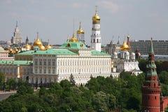Panorama van Moskou het Kremlin - de mening vanaf de bovenkant Stock Afbeeldingen