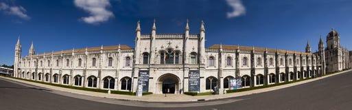 Panorama van Mosteiro-Dos Jeroniomos Lissabon Portugal Royalty-vrije Stock Foto
