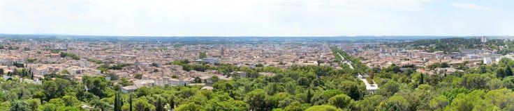 Panorama van Nîmes Royalty-vrije Stock Afbeeldingen