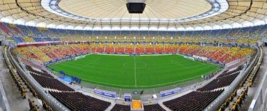 Panorama van Nationale Arena, Boekarest Stock Foto