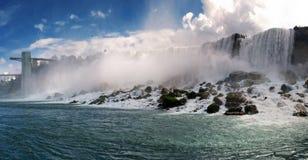 Panorama van Niagara Falls stock fotografie