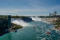 Panorama van Niagara Falls royalty-vrije stock afbeelding