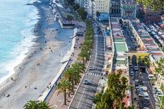Panorama van Nice, Franse Riviera Royalty-vrije Stock Afbeelding