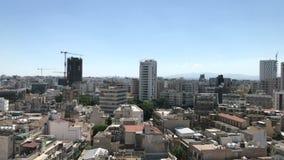 Panorama van Nicosia in Cyprus stock videobeelden