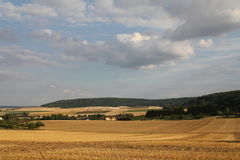 Panorama van noordelijk Frans platteland Stock Fotografie