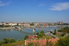 Panorama van Novi Sad Royalty-vrije Stock Foto