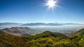 Panorama van Oaxaca van Monte Alban stock afbeeldingen