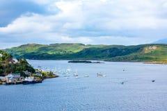 Panorama van Oban, een toevluchtstad binnen Argyll en Bute-raadsgebied van Schotland Stock Foto's