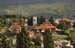 Panorama van Ohrid macedonië Stock Foto