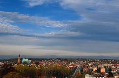 Panorama van Olkusz (Polen) royalty-vrije stock fotografie