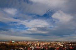 Panorama van Olkusz (Polen) Royalty-vrije Stock Foto's