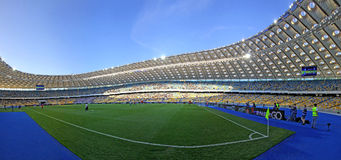 Panorama van Olympisch stadion in Kyiv Stock Afbeelding