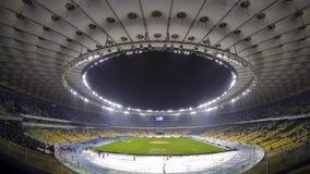 Panorama van Olympisch stadion in Kyiv, de Oekraïne (Tijdtijdspanne) stock footage