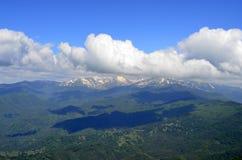 Panorama van Orelyak-piek, Pirin-berg royalty-vrije stock fotografie