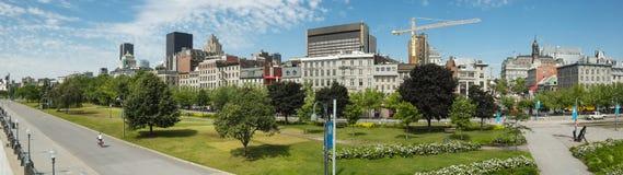 Panorama van Oud Montreal Stock Foto's
