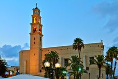 Panorama van Oude Jaffa stock foto's