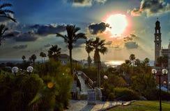 Panorama van Oude Jaffa stock foto