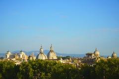 Panorama van oude stad in stad van Rome, Italië Stock Foto's