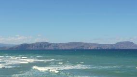 Panorama van overzeese golven Stock Foto's