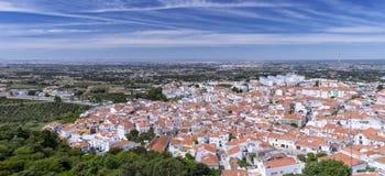 Panorama van Palmela, Portugal royalty-vrije stock fotografie