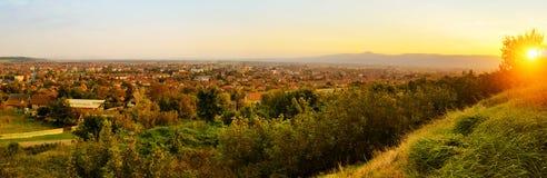 Panorama van Paracin Royalty-vrije Stock Afbeelding