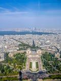 Panorama van Parijs Stock Afbeeldingen