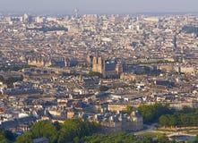 Panorama van Parijs van de Toren Montparnasse stock fotografie