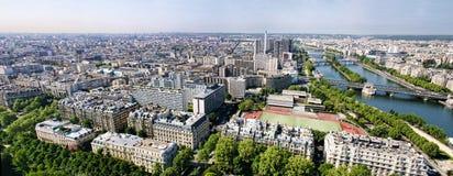 Panorama van Parijs Frankrijk Royalty-vrije Stock Afbeeldingen